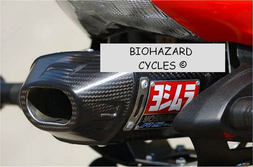 YOSHIMURA 1462272 SLIP ON SO EXHAUST SYSTEM RS5 RS-5 CARBON FIBER MUFFLER W CF END CAP STAINLESS STEEL SS LINK / MID PIPE KAWASAKI ZX6R ZX-6R ZX636 ZX-636 ZX6 ZX-6 ZX6RR 600 05 06 2005 2006