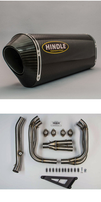HINDLE 75-0119CC CARBON FULL EXHAUST SYSTEM SINGLE ZX14R 13-20