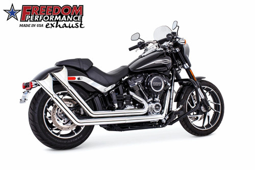 FREEDOM PERFORMANCE HD00763 CHROME UPSWEEP SHARKTAIL Exhaust System SOFTAIL 18-20