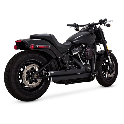 VANCE & HINES 47941 BLACK Big Shots Staggered EXHAUST SOFTAIL 18-20