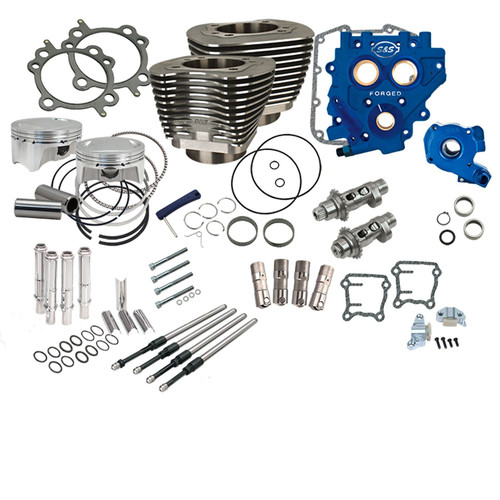 """S&S 330-0668 110"""" POWER PACKAGE 585 CHAIN CAM 96 & 103 TWIN CAM"""