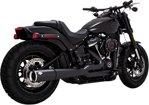 VANCE & HINES 47587 2:1 PRO PIPE BLACK EXHAUST SOFTAIL 18-21