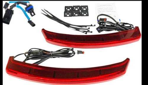 LED SADDLEBAG LOW PROFILE RED LIGHTS  CHALLENGER