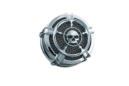 KURYAKN 9459 Mach 2 CHROME Zombie Air Cleaner 99-17 TWIN CAM