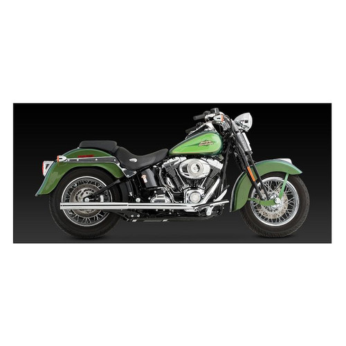 VANCE & HINES 16793 CHROME SOFTAIL DUALS EXHAUST MUFFLERS 97-11