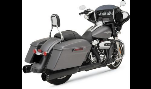 KROME WERKS 202825 Black 4.50 HP-Plus Slip On Mufflers Black  FL 17-21