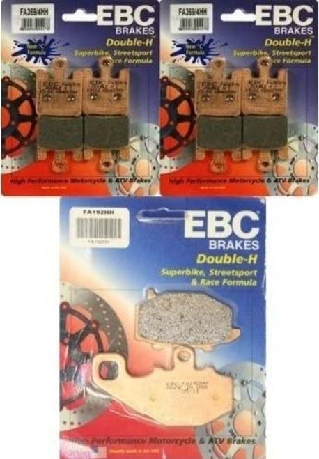 EBC HH PAD SETS FRONT & REAR FA192HH & 2 SETS FA369/4HH ZX10R 04-07