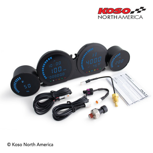 KOSO BA064910 HD-03L BLUE 4 piece LED kit FL 14-20