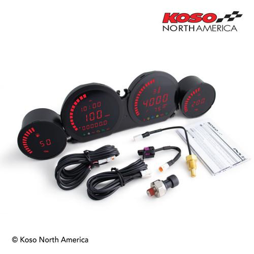 KOSO BA064920 HD-03L RED 4 piece LED kit FL 14-20