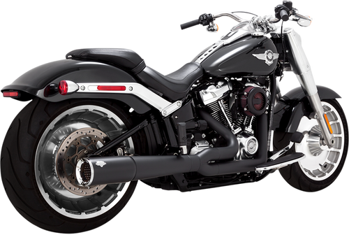 VANCE 47589 BLACK PRO PIPE 2:1 FULL EXHAUST FATBOY & BREAKOUT 18-21