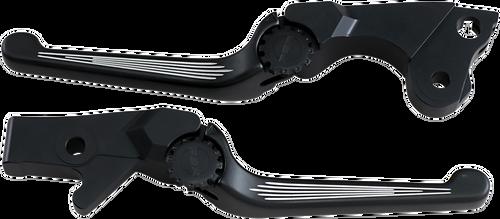 PSR  17-00651 BLACK CONTRAST ANTHEM BRAKE & CLUTCH LEVERS INDIAN BAGGERS