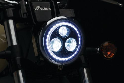 """KURYAKN 2462 Orbit Vision 5-3/4"""" L.E.D. Headlight White Halo"""