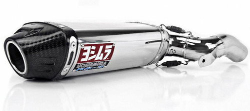 YOSHIMURA 1226275 RS5 RS-5 SLIP ON SO EXHAUST SYSTEM  STAINLEES STEEL SS MUFFLER W CARBON FIBER CF END CAP SS LINK / MID PIPE HONDA CBR600RR CBR600 CBR 600RR 600  05 06 2005 2006