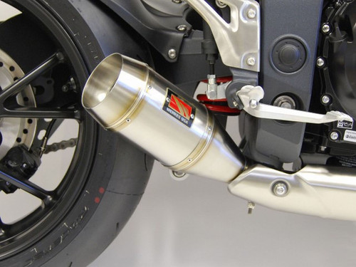 COMPETITION / COMP WERKES WT1051 SLIP-ON SLIP ON SO EXHAUST SYSTEM  HAND WELDED 304 STAINLESS SS GP MUFFLER  TAPERED BAFFLE TRIUMPH SPEED TRIPLE 1050  11 12 13 14 15 2011 2012 2013 2014 2015