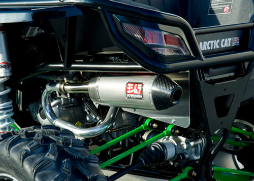 YOSHIMURA 391002D520 SLIP ON SO EXHAUST SYSTEM RS-4 RS4 STAINLESS MUFFLER W CARBON FIBER CF END CAP SS 2 INTO 1 LINK PIPE  USFS SPARK ARRESTOR SCREEN ARTIC CAT WILDCAT 1000 1000I H.O. HIGH OUTPUT HO 12 13 14 15 2012 2013 2014 2015