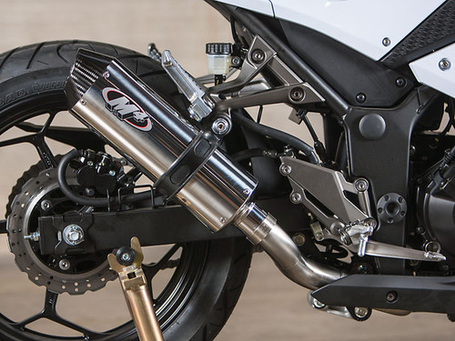 M4 KA3012 STAINLESS SO EXHAUST NINJA 300 2013 13
