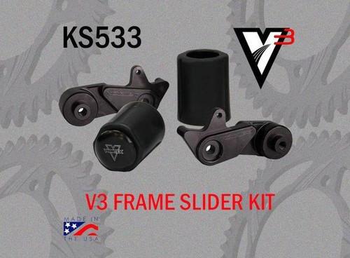 VORTEX KS533 V3 NO CUT FRAME SLIDER KIT GSXR1000 09-11