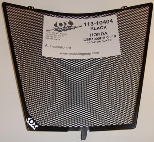 COX RACING 113-10404 RADIATOR GUARD BLACK CBR1000 CBR1000RR 08-16
