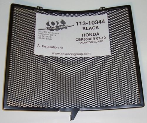 COX RACING 113-10344 RADIATOR GUARD BLACK CBR600 CBR600RR 07-12