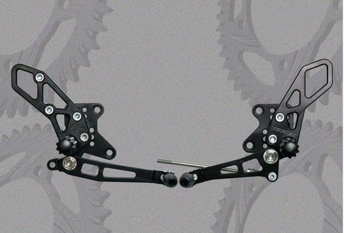 VORTEX V2 RACING RS424K REARSETS REAR SETS BLACK AL KAWASAKI NINJA 250R 250 EX-250R EX250 EX 300r 300 ex-300 ex300 08 09 10 11 12 2008 2009 2010 2011 2012 2013 2014 13 14 15 16 2015 2016