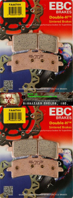 EBC FA447HH 447 HH 2 PAIR OF PADS FOR BOTH SIDES OF THE FRONT ROTORS