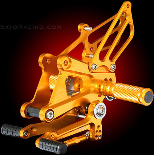 SATO RACING H-C250RS-GD GOLD REARSETS CBR250 CBR250R  11-12