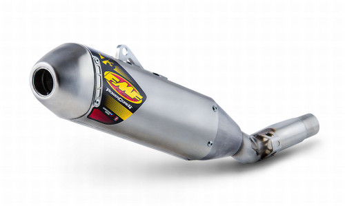 FMF RACING 044423 POWERCORE P-CORE 4 SLIP ON SLIP-ON EXHAUST   ALUMINUM MUFFLER W STAINLESS STEEL SS END CAP & MID PIPE  YAMAHA YZ250F YZ 250F YZ-250F   14 15 16 2014 2015 2016