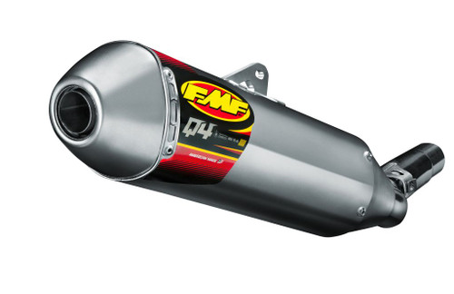 FMF RACING 044426 Q4 S/A SLIP ON EXHAUST  HEX QUIET PERFORMANCE ALUMINUM MUFFLER STAINLESS STEEL SS MID PIPE  YAMAHA YZ250F YZ 250F YZ-250F   14 15 16 2014 2015 2016