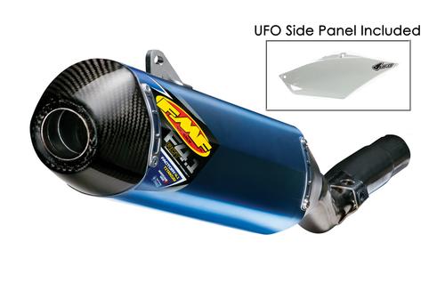 FMF 041526 FACTTORY 4.1 BLUE ANODIZED SLIP ON EXHAUST SYSTEM  BLUE TITANIUM MUFFLER W CARBON FIBER CF END CAP  HONDA CRF250R CRF 250R 250 2014 14 15 2015 16 2016 17 2017