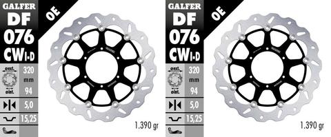 Galfer Standard Wave Brake Rotor Front for 15-18 Honda CRF450R