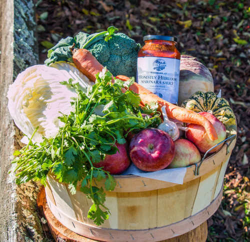 A basket full of our produce will be harvested for each of our members each week.  10 week winter csa  Farm To Your Table