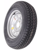"AS15B475SM, Taskmaster ST205/75D15 Bias Trailer Tire with 15"" Silver Mod Wheel - 5 on 4.75 - Load Range C"