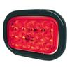 "6-1/2"" x 4-1/2"" Rectangular Red 15 LED Stop, Turn, Tail Light w/ Rubber Grommet 3 Prong Plug"