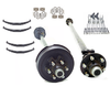 10.4K Tandem Trailer axle package. Dexter Brand axles with all Mounting hardware included to mount the new dexter trailer axles on the trailer. Trailer Parts Unlimited 844-898-8687