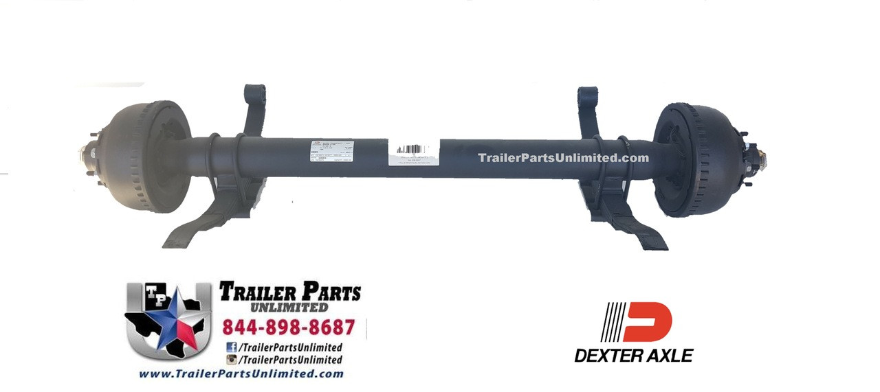 Dexter 10,000 lbs electric brake trailer axle, fully assembled with springs