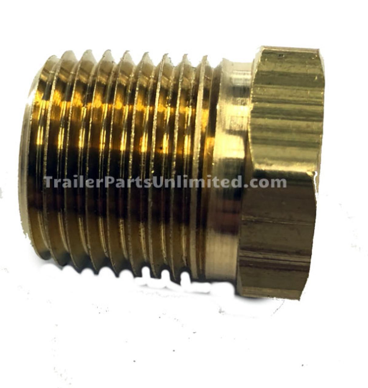 "Brass Reducer Bushing 1/2"" x 3/8"""