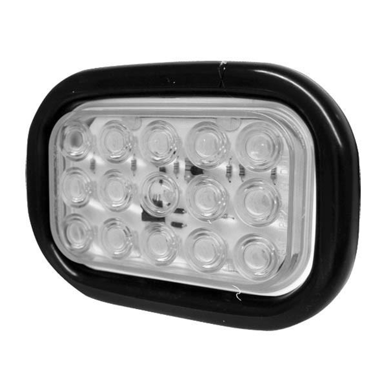 6 1 2 X 4 1 2 Rectangular Clear 15 Led Reverse Backup Light W Rubber Grommet 3 Prong Plug