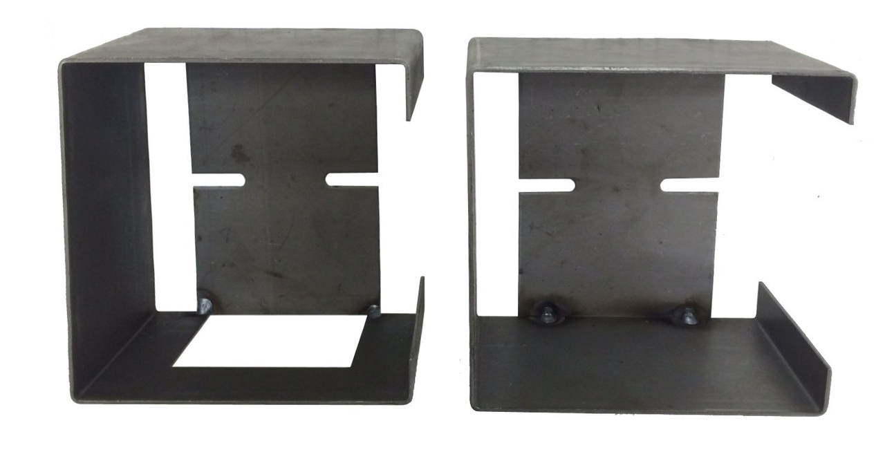 Set of Steel Light Box Guards For Standard Trailer Tail Lghts (1 Left & 1 Right)