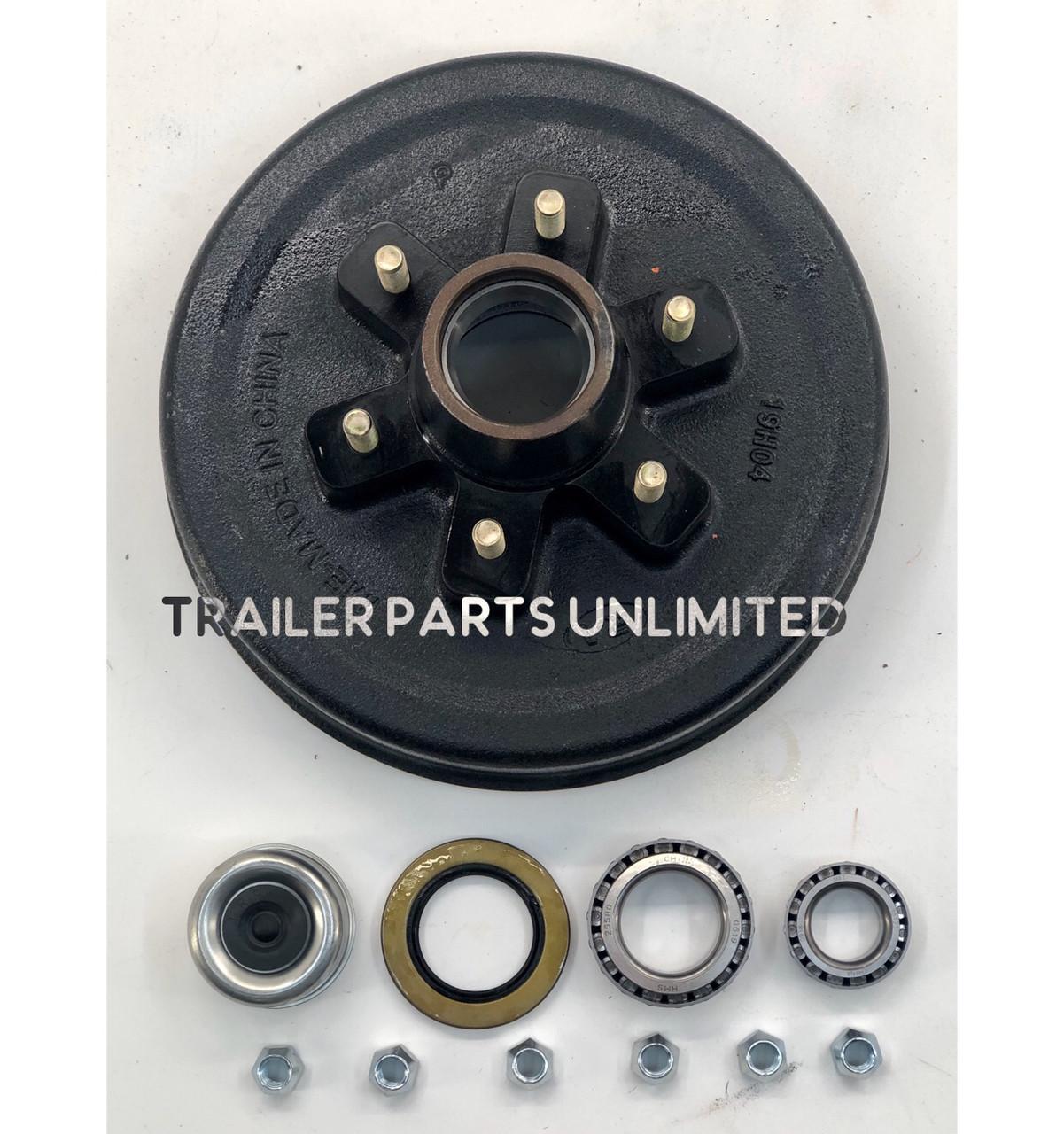 Add U Bolts, 85 Hubface-70 Spring Center 5.2k-5200 Lb Capacity 12x2 Electric Brake Trailer Axle 6 Lug-Dexter Compatible 60Frame