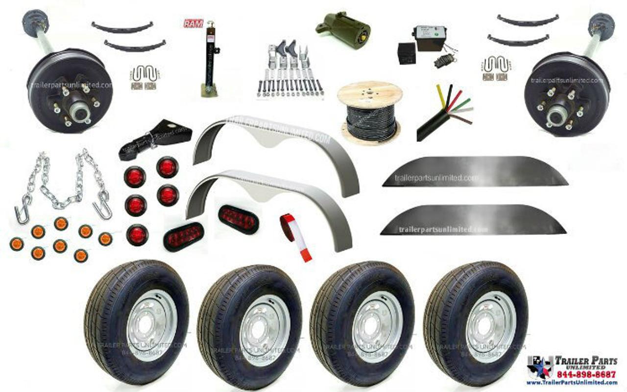 "Tandem Axle Trailer Hanger Kit 4102A 3500-7000 lbs Double Eye 1.75/"""