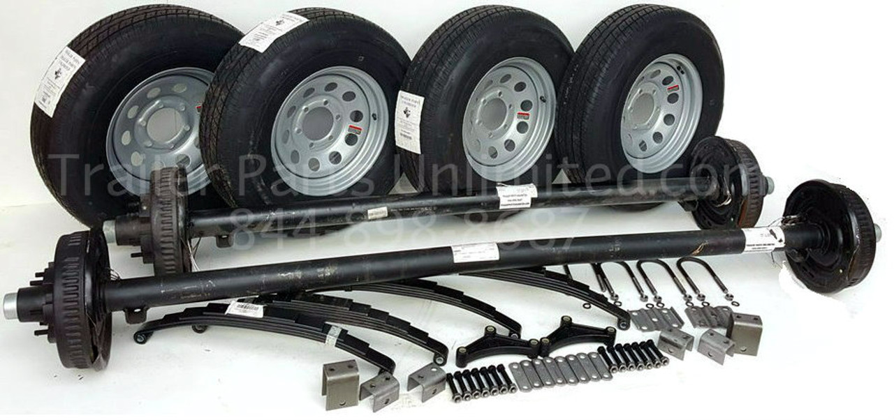 "Tandem Axle Trailer Set with 15"" 10ply Tires and wheels"