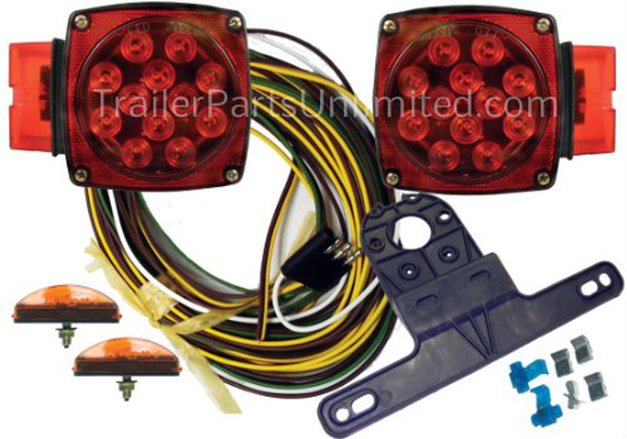 Submersible Clams LED Trailer Light Kit / Marine Deluxe Boat Trailer on marine starter wiring, mercury marine wire harness, marine wiring accessories,