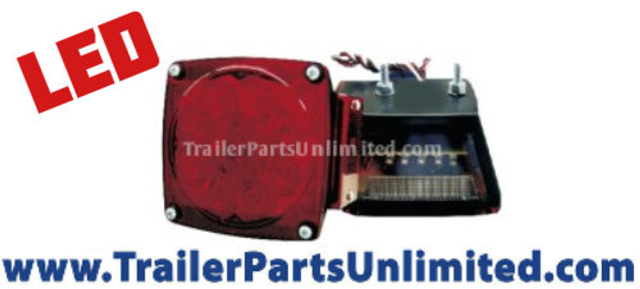 10 diode stop turn tail standard trailer light for right hand driver side of trailer