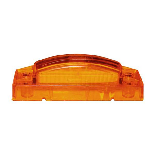 "4"" x 1"" Rectangular Amber 5 LED Multioptic Clearance Marker Light"