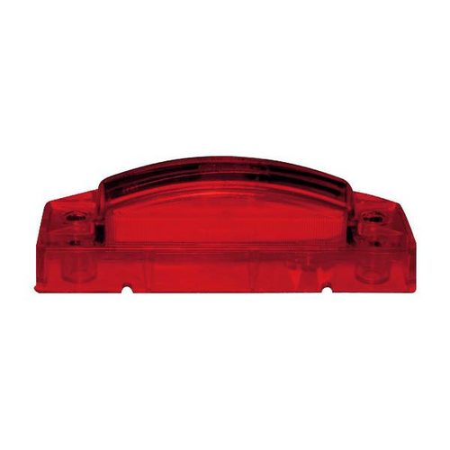 "4"" x 1"" Rectangular Red 5 LED Multioptic Clearance Marker Light"