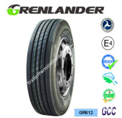 225/70R19.5 14-Ply Grenlander GR612 Steer Tire