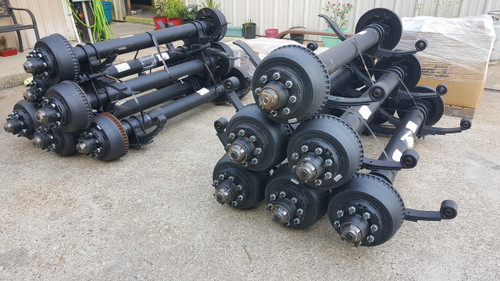 10k dual tandem electric brake axle