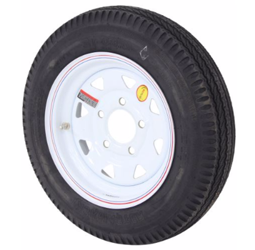 "12"" trailer tire and wheel mounted"