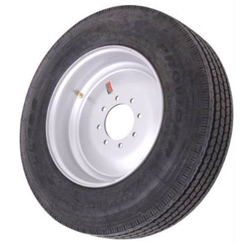 215/75R17.5 16 PLY PROVIDER TIRE MOUNTED ON SUPER SINGLE WHEEL