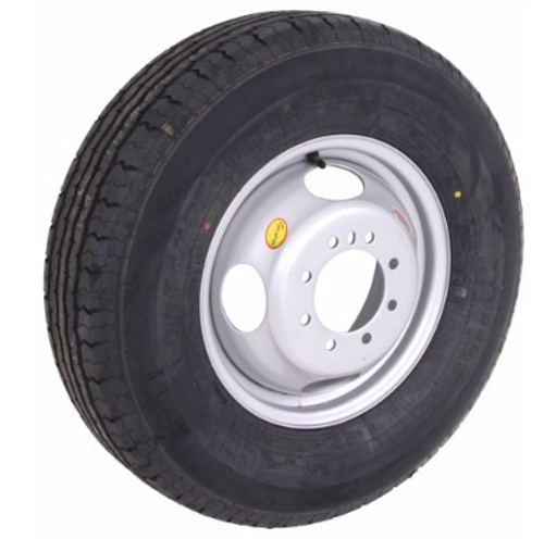 "16"" 10 ply Trailer Tire mounted on Hub piloted dual wheel"